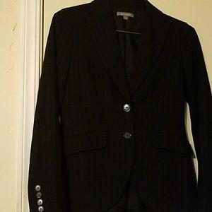 Pinstripe business suit jacket